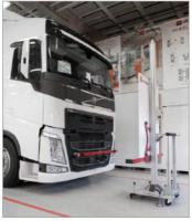 Autonomous VOLVO trucks static camera calibration stand